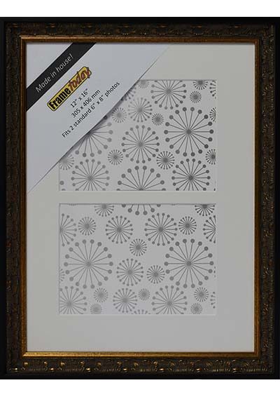 Aurora Black & Gold 12x16 Picture Frame