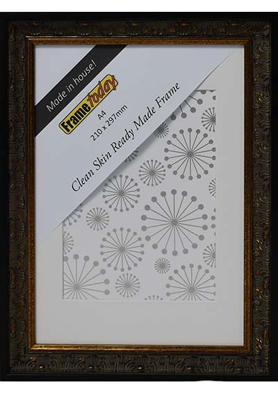 Aurora Black & Gold A4 Picture Frame